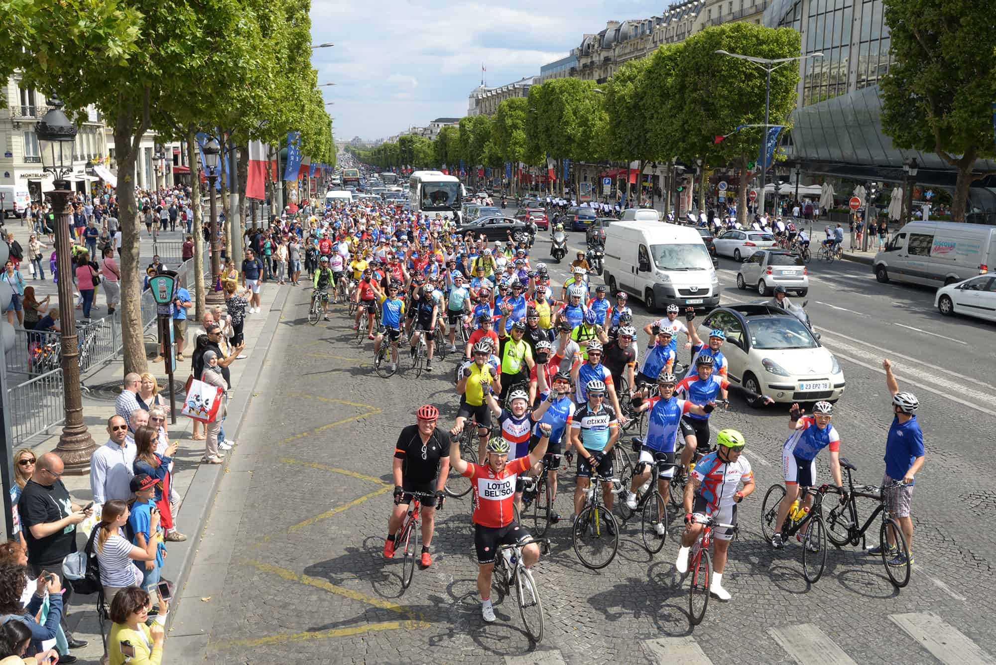 CYCLE LONDON TO PARIS - FINISH AT TOUR DE FRANCE 2020